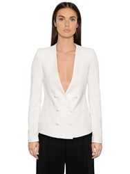 Emporio Armani Stretch Viscose Tricotine Jacket