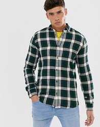 Only And Sons Check Shirt In Slim Fit Green