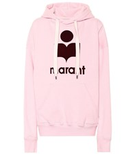 Etoile Isabel Marant Exclusive To Mytheresa Mansel Oversized Cotton Blend Hoodie Pink