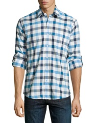 Neiman Marcus Classic Fit Plaid Jacquard Sport Shirt Sailor