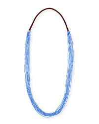 Chan Luu Multi Strand Scattered Bead Necklace Blue