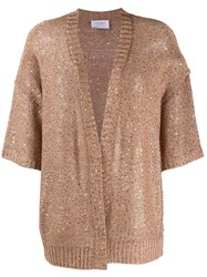 Snobby Sheep Sequin Embroidered Cardigan Brown