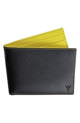 W Rkin Stiffs Men's Wurkin Stiffs Rfid Blocker Wallet Black Black Yellow