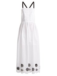 Rachel Comey Borough Broderie Anglaise Cotton Blend Dress White