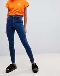 Cheap Monday High Spray Skinny Jeans Abstract Blue