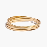 Madewell Intertwine Bangle Bracelet Vintage Gold