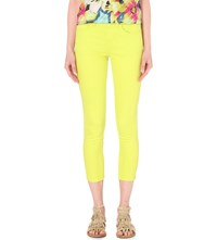 Karen Millen Coloured Skinny Mid Rise Jeans Lime