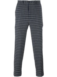 Msgm Houndstooth Cropped Joggers Grey