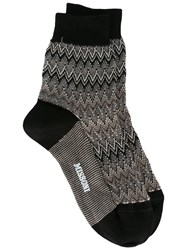 Missoni Chevron Socks Black