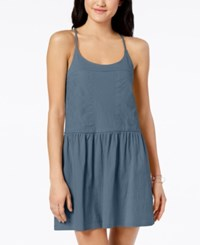Roxy Juniors' Embroidered A Line Dress Dusty Blue