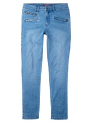 Violeta By Mango Slim Fit Vicky Jeans Open Blue