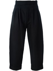 J.W.Anderson J.W. Anderson Front Pleat Baggy Trousers Black