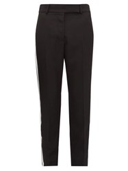 Haider Ackermann Miles Striped Wool Trousers Black