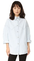 Maison Martin Margiela Washed Denim Button Down Special Bleached Wash