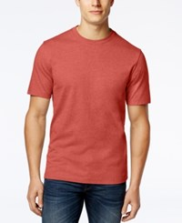 Club Room Men's Paxton Crew Neck T Shirt Only At Macy's Deepsea Coral