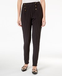 Beauty And The Beast Juniors' Striped Military Pants Black