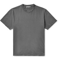 Our Legacy Distressed Cotton Jersey T Shirt Gray