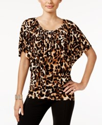 Thalia Sodi Convertible Animal Print Top Only At Macy's Leopard