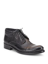 Jo Ghost Cap Toe Lace Up Leather Ankle Boots Dark Brown