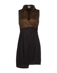 Malloni Short Dresses Brown