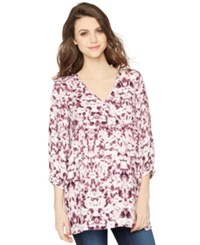 A Pea In The Pod Maternity Printed V Neck Blouse