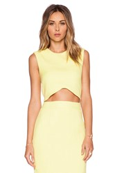 Blaque Label Woven Crop Top Yellow
