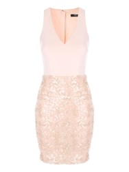 Jane Norman Sleeveless Sequin Dress Neutral
