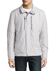 Strellson Zip Accented Lightweight Jacket Grey