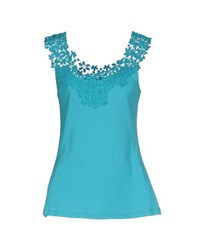 Diana Gallesi Topwear Vests Women Turquoise