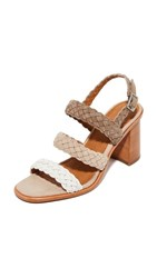 Frye Amy Braid Sandals White Multi