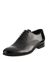 Jared Lang Lace Up Ridged Dress Shoe Black