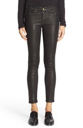 Frame Women's 'Le Skinny' Lambskin Leather Pants Washed Black