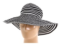San Diego Hat Company Ribbon Braid Hat Large Brim Stripe Black White Stripe Traditional Hats
