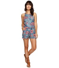 Roxy Hooked On A Feeling Romper Captains Blue Beyond Love Women's Jumpsuit And Rompers One Piece