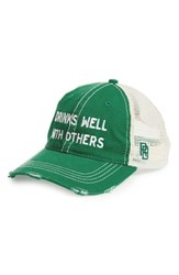 Retro Brand Men's Original Drinks Well With Others Trucker Hat Green Forest