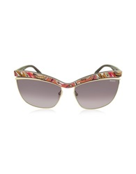 Emilio Pucci Ep0009 Fantasy Metal Cat Eye Sunglasses