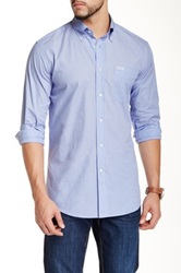 Faconnable Long Sleeve Solid Sportswear Shirt Blue