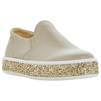 Dune Exchange Casual Slip On Trainers Taupe