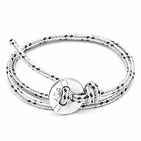 Anchor And Crew Grey Dash Lerwick Silver Rope Bracelet