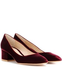 Gianvito Rossi Exclusive To Mytheresa.Com Linda 45 Velvet Pumps Red