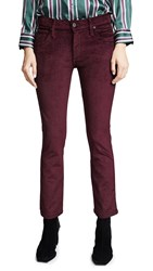James Jeans High Rise Ankle Straight Garnet