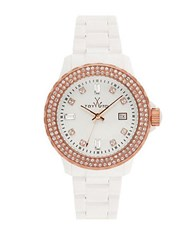 Toy Watch Ladies Two Tone And Crystal White