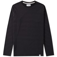 Norse Projects Long Sleeve Svali Stripe Tee Black