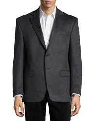 Neiman Marcus Cashmere Two Button Blazer Charcoal