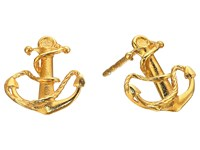 Alex And Ani Post Earrings Anchor Gold Earring