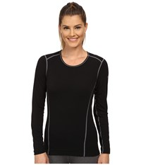 Hot Chillys Mtf 4000 Scoop Top Black Women's Long Sleeve Pullover