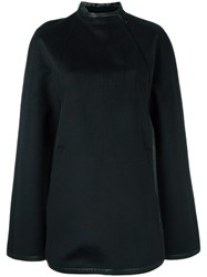 Barbara Bui Cape Coat Black