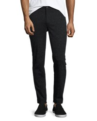 Atm Anthony Thomas Melillo Melange Moto Slim Straight Pants Black