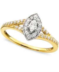 Macy's Engagement Ring Diamond 1 3 Ct. T.W. And 14K Yellow Gold