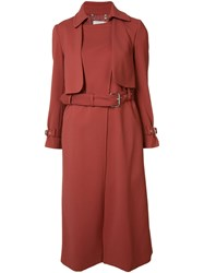 Rachel Comey Belted Trench Coat Red